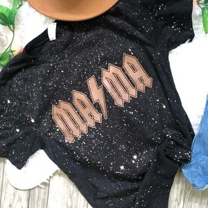NEW Bleached MAMA Tee Shirt top Spring S-5X